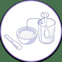 Mezclar medicamentos con agua para sonda